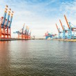 Port terminal for loading and offloading ships — Stock Photo #40761417