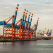 Port terminal for loading and offloading ships — Stock Photo