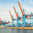 Port terminal for loading and offloading ships — Stock Photo #40764857