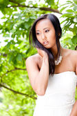 Attractive young asian woman beauty portrait — Zdjęcie stockowe