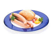 Frankfurters or Wiener sausages — Stock Photo
