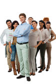 Happy people business team group together — Stock Photo