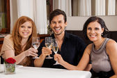 People friends in restaurant — Stock Photo