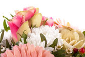 Bouquet of fresh pink and white flowers — 图库照片