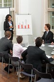 Business people team in office presentation plan — Foto Stock