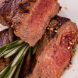 Stock Photo: Medium rare beef