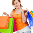 Shopping bags from seasonal sales — Stock Photo