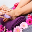 Pedicure treatment at a spa — Stock Photo
