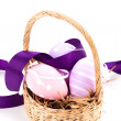 Traditional Easter eggs basket — Stock Photo #42193081