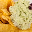 Stock Photo: Nachos with guacamole sauce