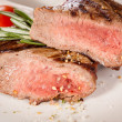 Stock Photo: Medium rare beef steak