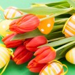 Colourful red Easter still life — Stock Photo #42194767