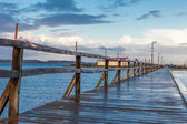 Pier across sea — Stock Photo
