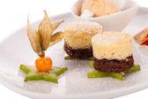 Coffee blanc mange — Stock Photo