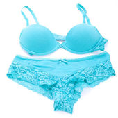 Sexy blue lingerie — Stock Photo