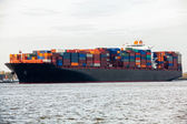 Container ship in port — Photo