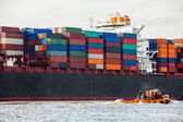 Container ship — Stock fotografie