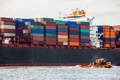 Containerfartyg — Stockfoto