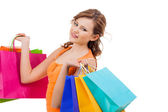 Young shopaholic — Stock Photo