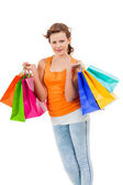 Attractive shopaholic — Stock Photo