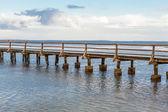 Bridge across sea — Stock Photo