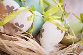 Green Easter eggs — Stock Photo