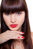 Woman with brunette hair — Stock Photo