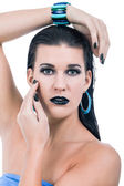Woman in gothic makeup — Stock Photo
