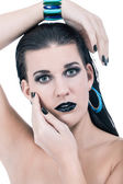 Black glamour makeup — Stock Photo