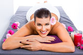 Happy woman in a spa — Stock Photo
