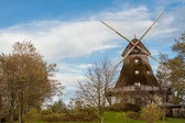 Traditional wooden windmill — Stock Photo