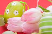 Decoración de huevos de Pascua — Foto de Stock