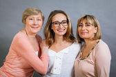 Three generations of charming women — Stock Photo