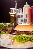 Cheeseburger with beef — Stock Photo