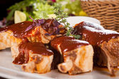Delicious grilled pork ribs — Stock Photo