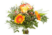 Vivid orange gerbera daisy in a bouquet — Photo