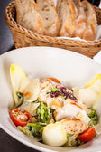 Caesar salad with chicken — Stock Photo