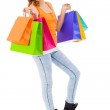 Attractive shopaholic with bags — Stock Photo #43220331