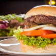 Cheeseburger with cole slaw — Stock Photo #43220045