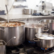 Cooking in a commercial kitchen — Stock Photo #43220577