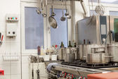 Neat interior of a commercial kitchen — Stock Photo