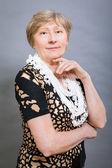 Vivacious happy senior woman — Stock Photo