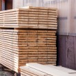 Wooden panels stored inside a warehouse — Stock Photo #47009035