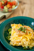 Macaroni cheese or spatzle egg noodle — Stock Photo