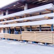 Wooden panels stored inside a warehouse — Stock Photo #47010151