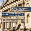Signposts in Paris centre — Stock Photo #47010443