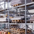 Building and construction materials in a warehouse — Stock Photo #47010743
