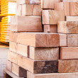 Wooden panels stored inside a warehouse — Stock Photo #47010991