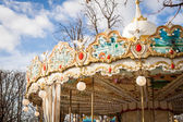 Ornate carousel or merry-go-round — Stock Photo