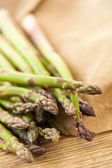 Fresh healthy green asparagus spears — Stock Photo